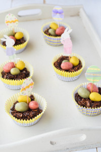 Paleo, Vegan, Raw Chocolate Easter Egg Nests