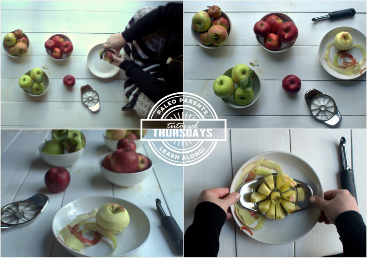 how to peel and slice and core apples