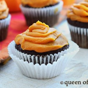 grain free paleo halloween chocolate cupcakes