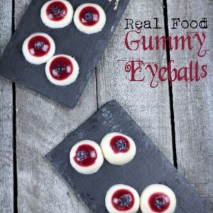 Paleo Gummy Goblin eyeballs for Halloween