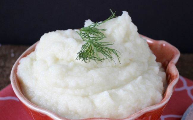 paleo mashed cauliflower