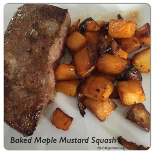 paleo baked maple squash with mustard