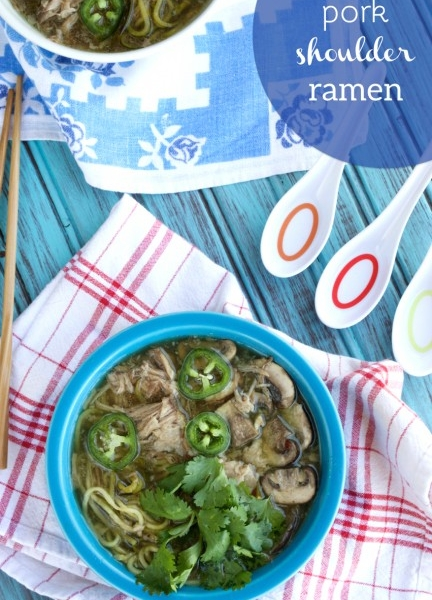 Paleo pork shoulder ramen