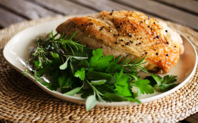 simple Paleo roasted turkey breast