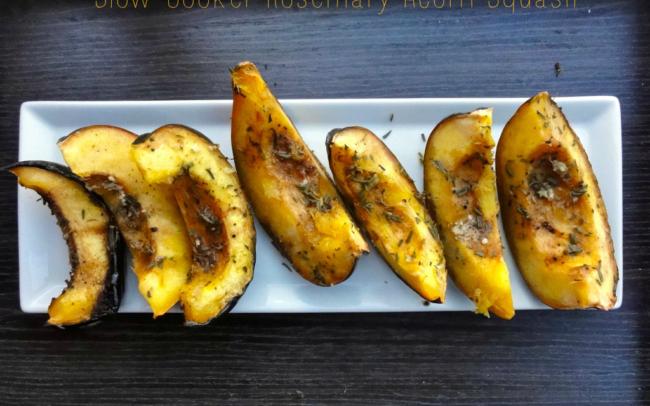 paleo slow cooker rosemary acorn squash