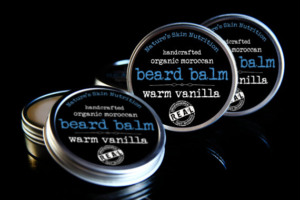 organic vanilla beard balm for men