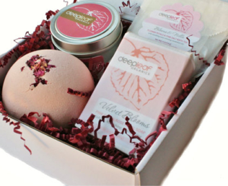 organic spa bath set