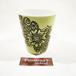 ceramic henna coffee mug