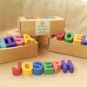 eco-friendly name crayons Etsy