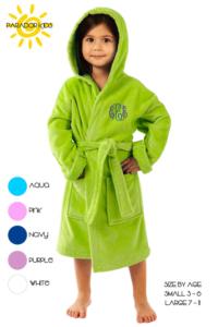 monogrammed organic bath robe towel