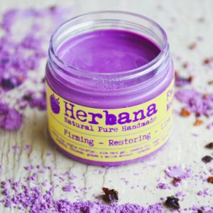 natural purple clay face mask