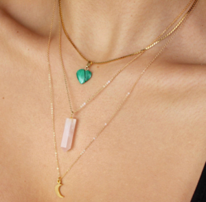 eco friendly rose quartz necklace of protection and love