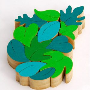 montessori wooden leaf toy puzzle eco-friendly wooden toy