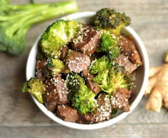 paleo ginger beef and broccoli stir fry