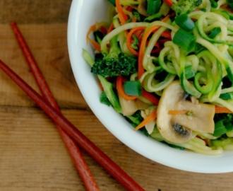 paleo veggie lo mein noodles